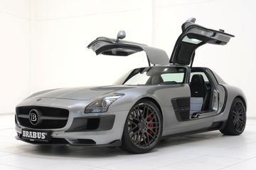 Brabus geeft de Mercedes SLS AMG extra power