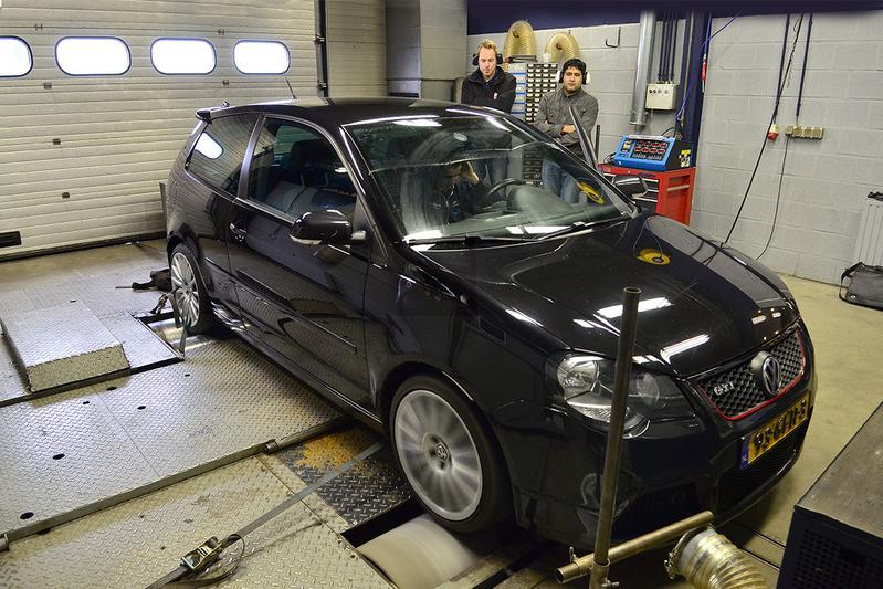 Op de rollenbank - VW Polo GTI Cup Edition