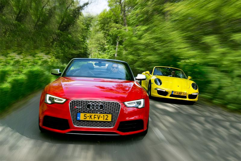 Dubbeltest - Audi RS5 vs. Porsche 911