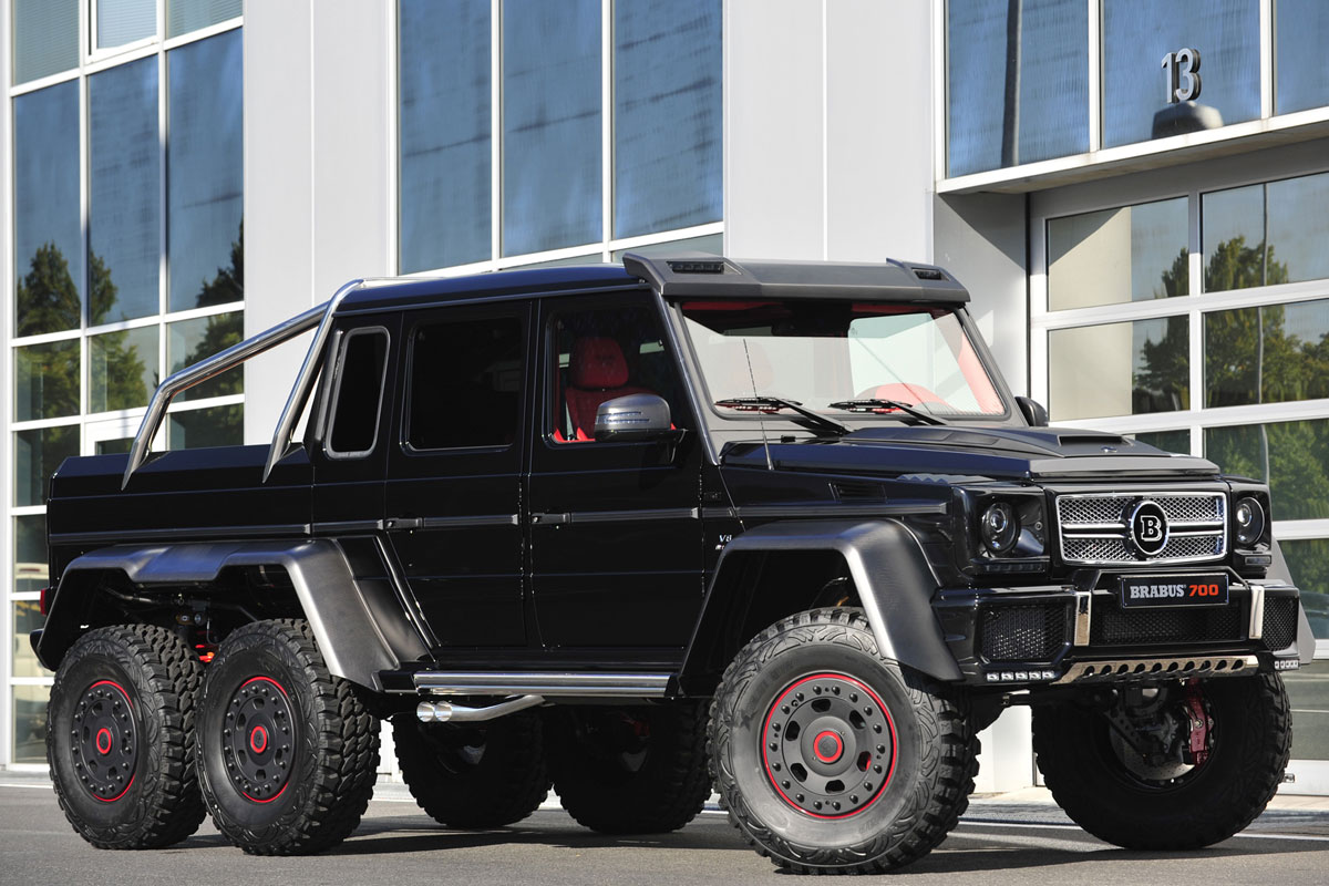 brabus pakt zeswielige mercedes g klasse aan. Black Bedroom Furniture Sets. Home Design Ideas