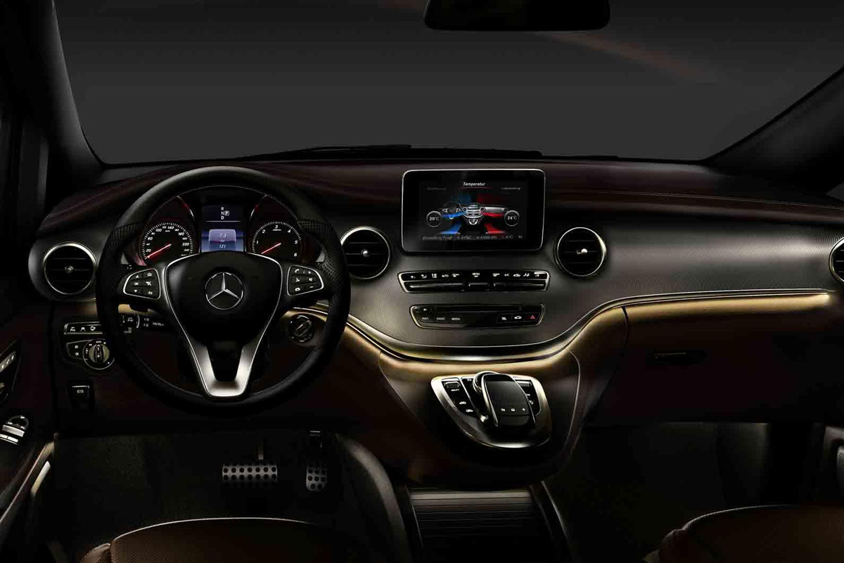 Mercedes showt interieur v klasse autonieuws for Edha interieur b v