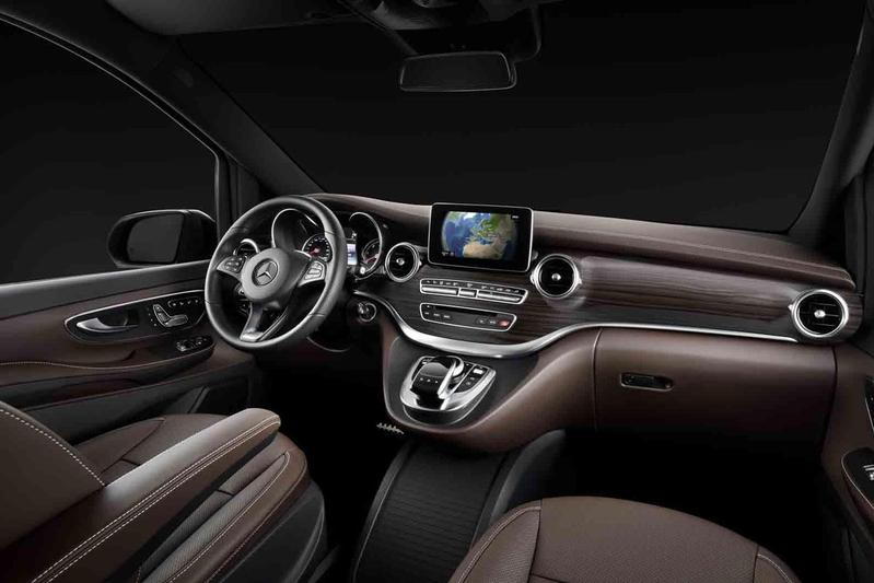 mercedes showt interieur v klasse
