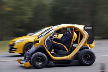 Renault Twizy F1: Vlammen als Vettel