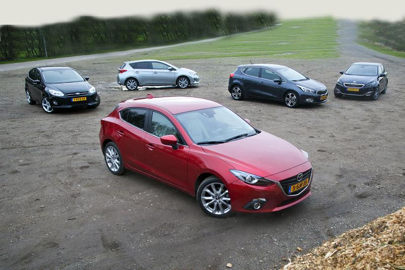 Mazda 3 - Kia Cee'd - Peugeot 308 - Ford Focus - Toyota Auris