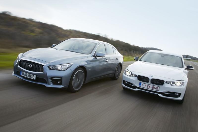 Dubbeltest - Infiniti Q50h vs BMW Active Hybrid 3