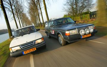 Occasion dubbeltest - Saab 900 vs Volvo 240
