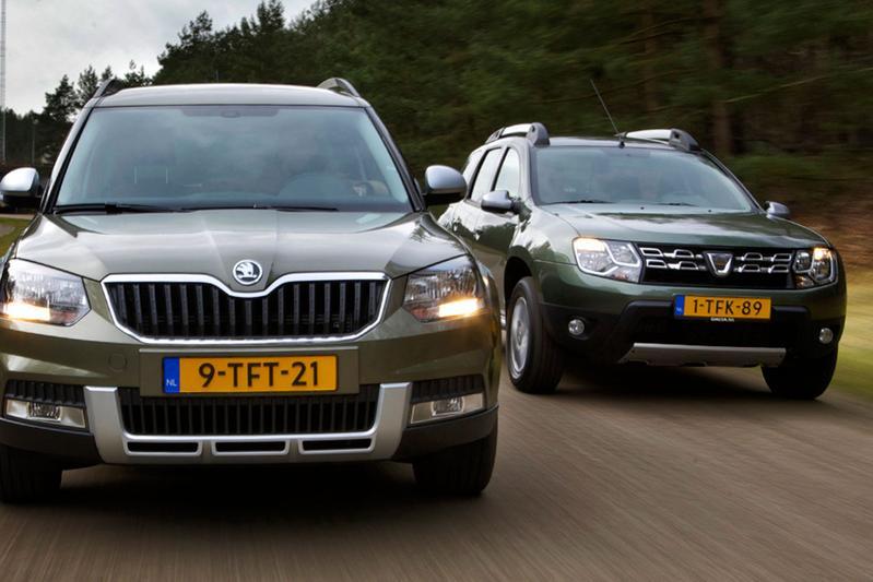 Dubbeltest - Dacia Duster vs. Skoda Yeti