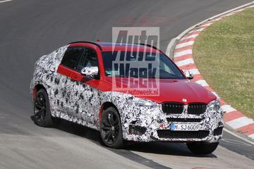 BMW X6 M spant z'n spieren aan op de 'Ring
