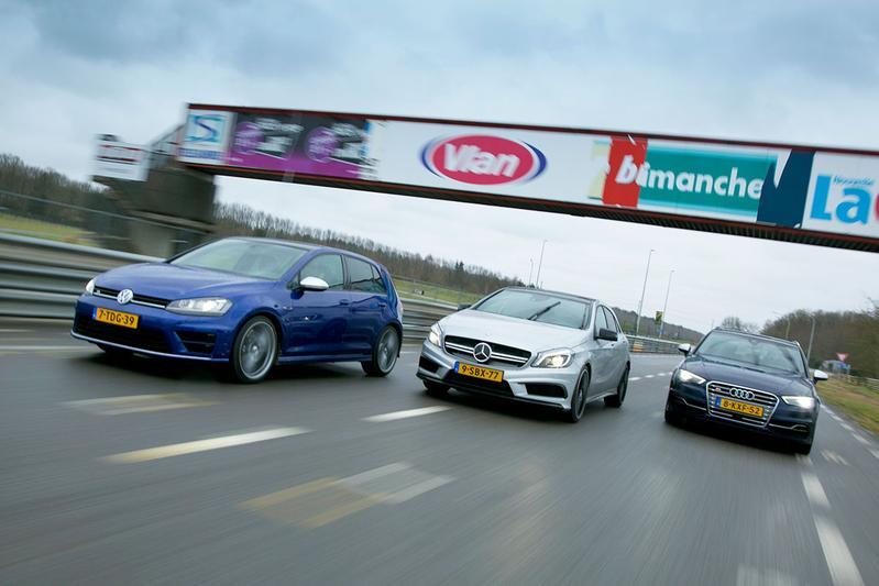 Triotest - VW Golf R, Audi S3, Mercedes A45 AMG