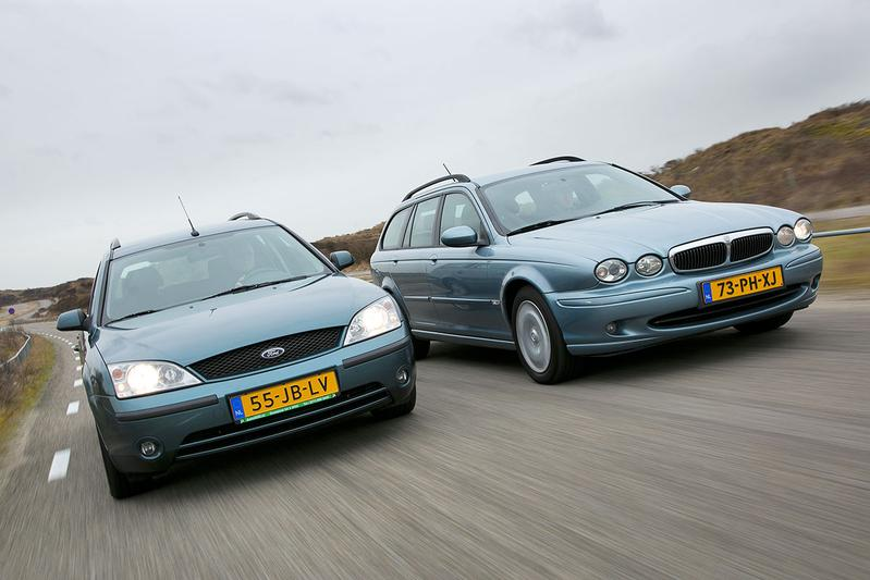 Occasion dubbeltest Ford Mondeo - Jaguar X-Type