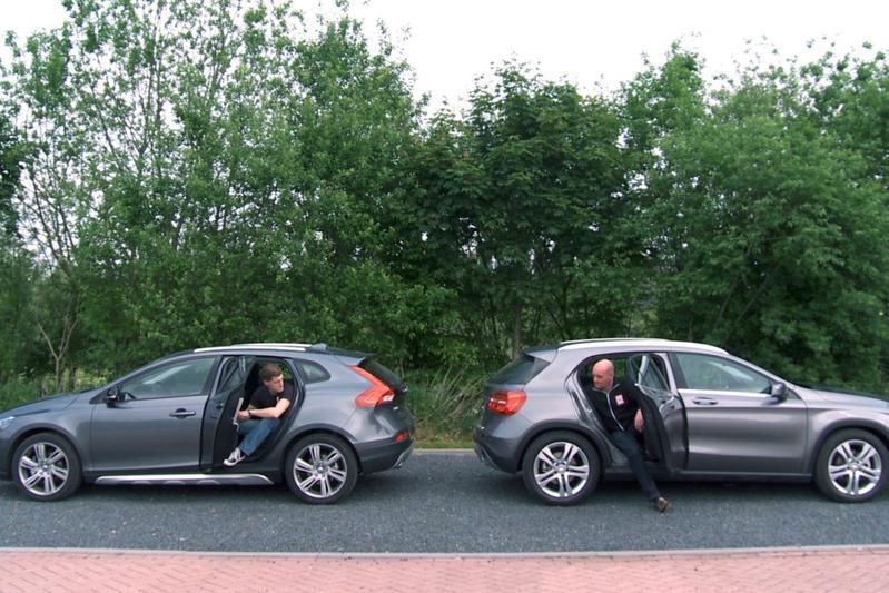 Dubbeltest - Mercedes GLA 200 vs. Volvo V40 CC T4