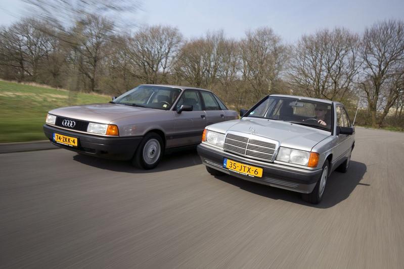 Youngtimer dubbeltest - Mercedes 190 vs Audi 80
