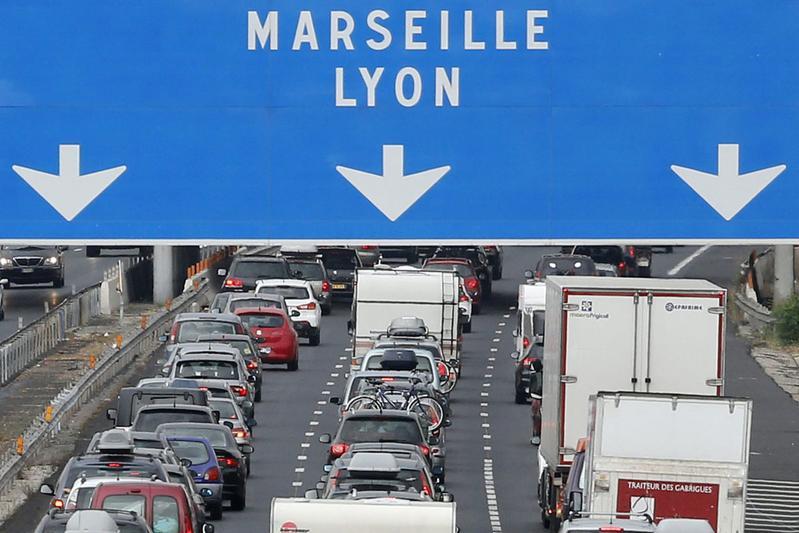 Verkeer file Frankrijk (foto ANP)