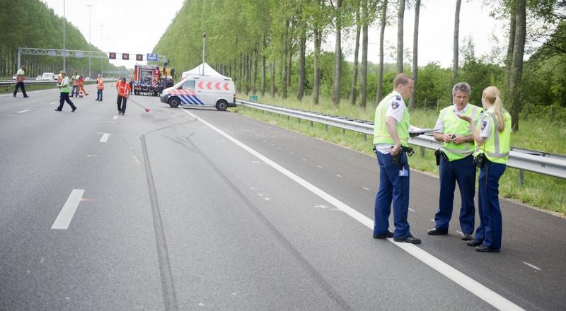 Onderzoek op A2 na ongeval - ANP