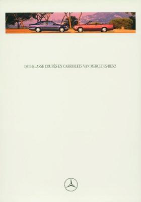 Brochure Mercedes E-klasse Coupé & Cabriolet 1995