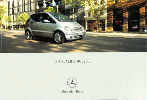 Brochure Mercedes A-klasse 2000