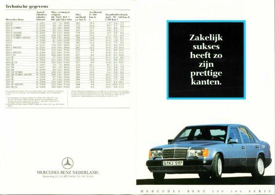 Flyer Mercedes 200-serie 1990