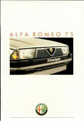 Brochure Alfa Romeo 75 1987