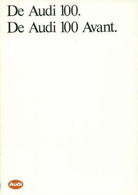 Brochure Audi 100 1986