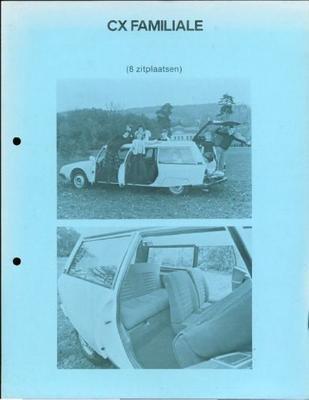 Brochure Citroën CX Familiale
