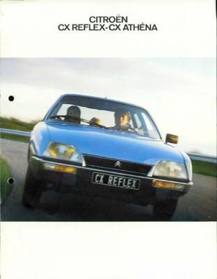 Brochure Citroën CX Reflext/Athena 1980