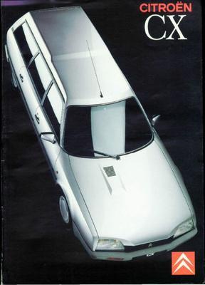 Brochure Citroën CX Break 1989