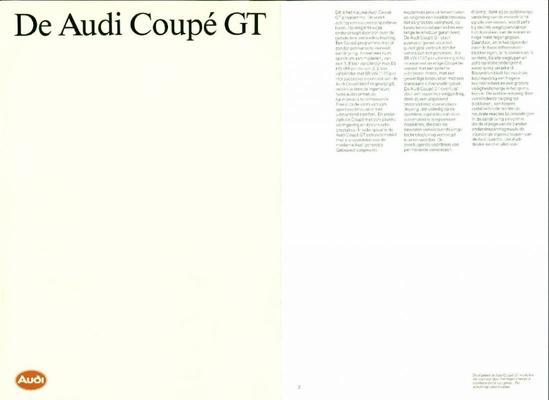 Brochure Audi Coupé 1987