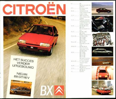 Brochure Citroën BX 1987