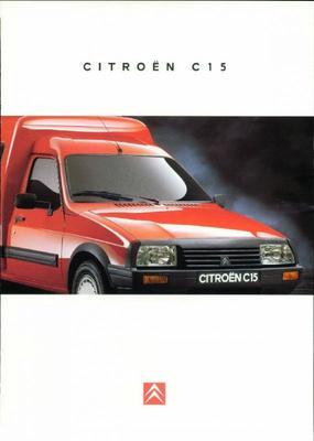 Brochure Citroën C15 1995