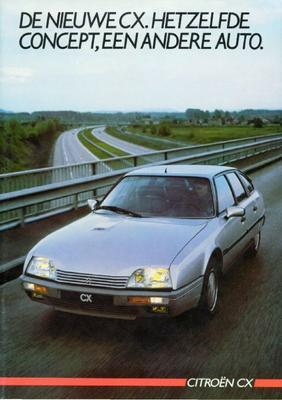 Brochure Citroën CX 1985