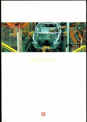 Brochure Citroën Xantia productie
