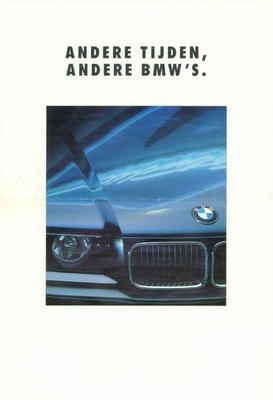 Brochure BMW 3-serie 1990