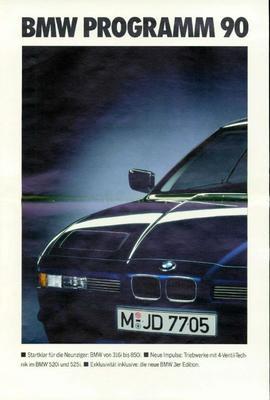 Brochure BMW 1990
