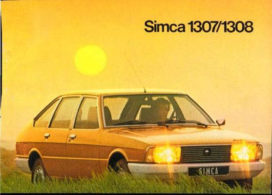 Brochure Simca 1307/1308 1976