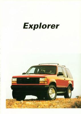Brochure Ford Explorer 1991