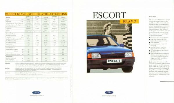 Brochure Ford Escort Bravo