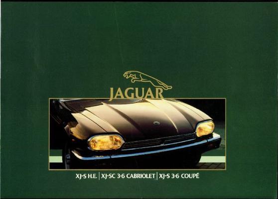 Brochure Jaguar XJS 1985