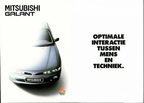 Brochure Mitsubishi Galant 1993