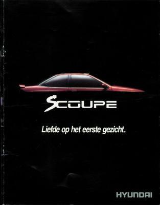 Brochure Hyundai Scoupé 1990