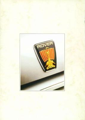 Brochure Rover 800-serie 1988