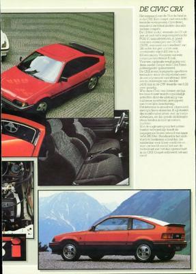Brochure Honda 1985