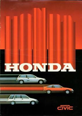 Brochure Honda Civic 1985