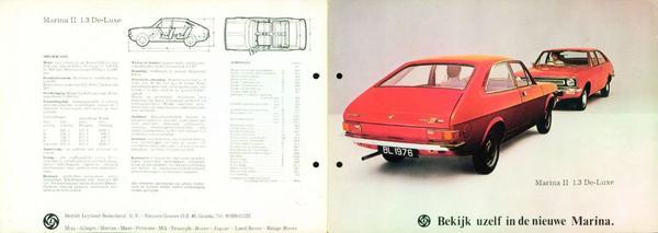 Brochure Morris Marina 1976
