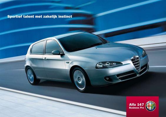 Brochure Alfa Romeo 147 Business Pro (2008)