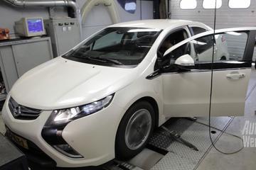 Op de rollenbank - Opel Ampera