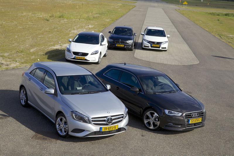 Honda Civic - Audi A3 - Mercedes Benz A-klasse - Volvo V40 - BMW 1-serie