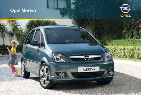 Brochure Opel Meriva 2009