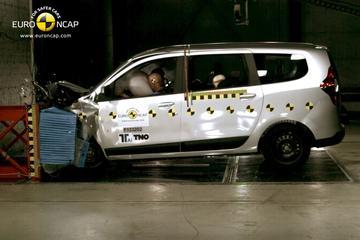 Dacia Lodgy tegen de muur: 3 sterren NCAP