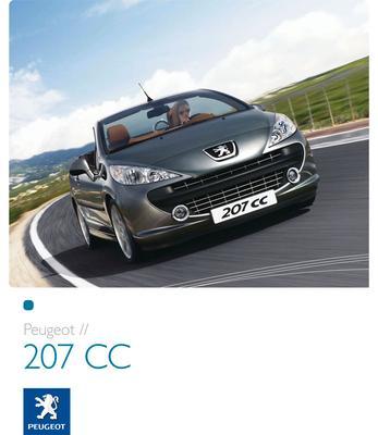 Brochure Peugeot 207 CC 2007