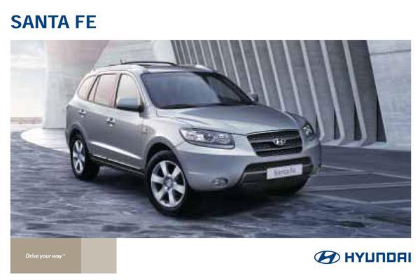 Brochure Hyundai Santa Fe 2009
